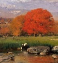 Inness George Morning Catskill Valley aka The Red Oaks