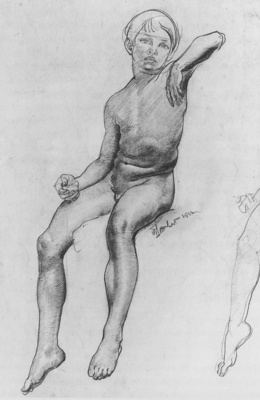 Lambert Seated Boy drawing