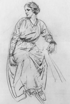 Lambert Seated Woman drawing