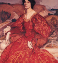Lambert Sybil Walker in Red and Gold Dress