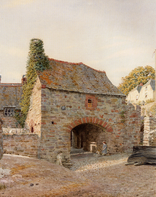 Boyce George Price Old Buildings At Kingswear South Devon