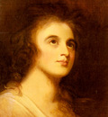 Romney George Portrait Of Emma Hamilton