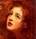 Romney George Portrait Study Of Emma Hamilton As Miranda