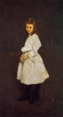 Bellows George Wesley Little Girl in White aka Queenie Barnett