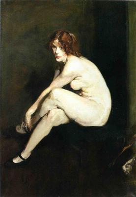 Bellows George Wesley Nude Girl Miss Leslie Hall