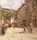 Stein Georges A Street Scene In Bern