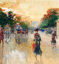Stein Georges Busy Traffic On The Champs Elysees Paris