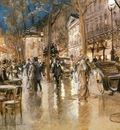Stein Georges Evening On A Parisian Boulevard