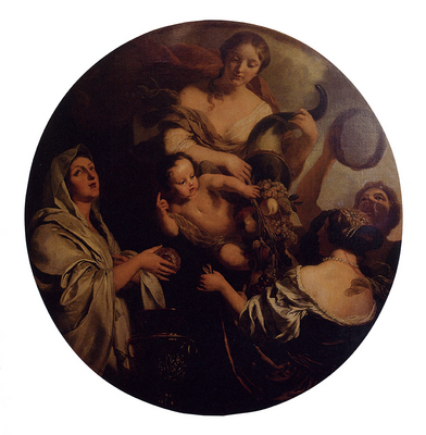 Lairesse Gerard De Allegory With An Infant Surrounded By Women