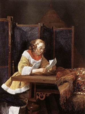 TERBORCH Gerard A Lady Reading A Letter