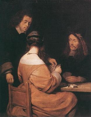 TERBORCH Gerard Card players