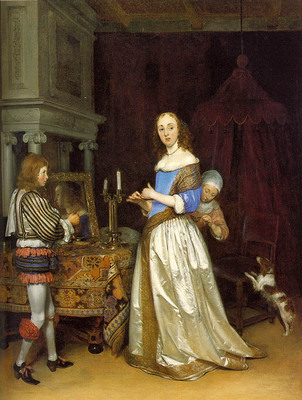TERBORCH Gerard Lady At Her Toilette