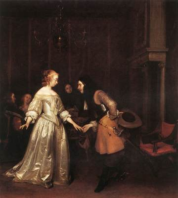 TERBORCH Gerard The Dancing Couple