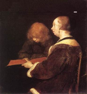 TERBORCH Gerard The Reading Lesson