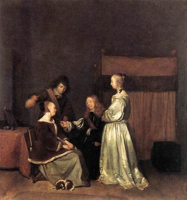 TERBORCH Gerard The Visit