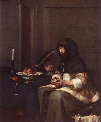TERBORCH Gerard Woman Peeling Apple