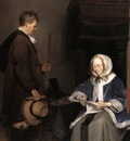 TERBORCH Gerard Lady Reading A Letter detail