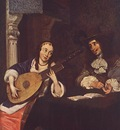 TERBORCH Gerard Woman Playing The Lute