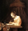 TERBORCH Gerard Woman Writing A Letter