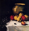 Ribot German Theodore A Still Life With Apples And Grapes