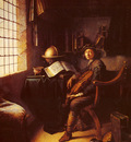 Dou Gerrit An Interior With A Young Violinist detail