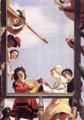 HONTHORST Gerrit van Musical Group On A Balcony