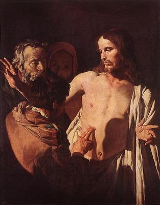 HONTHORST Gerrit van The Incredulity Of St Thomas