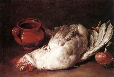 CERUTI Giacomo Still Life With Hen Onion And Pot