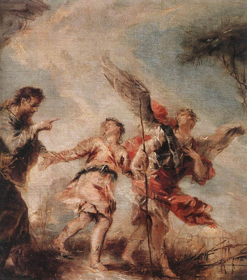 GUARDI Gianantonio The Departure of Tobias