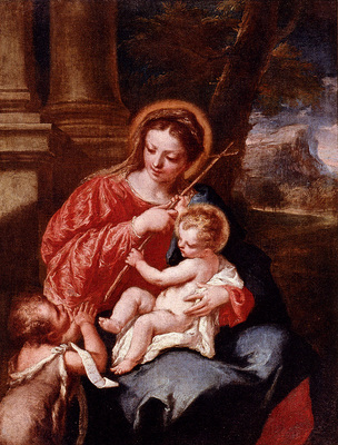 Guardi Giovanni Antonio Madonna And Child With Sain John The Baptist