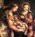 GUARDI Gianantonio Holy Family with St John the Baptist and St Catherine