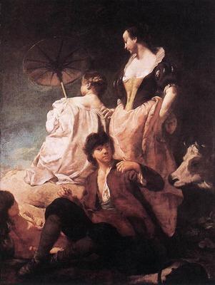 PIAZZETTA Giovanni Battista Idyll At The Coast