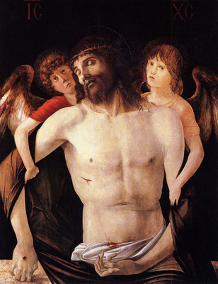 Bellini Giovanni The dead christ supported by two angels
