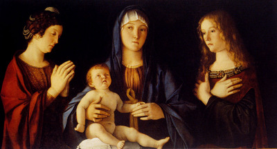 Bellini Giovanni Virgin And Child Betwwn St Catherine And St Mary
