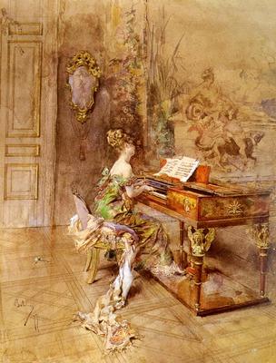 Boldini Giovanni La Pianista