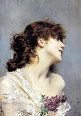 Boldini Giovanni Profile Of A Young Woman