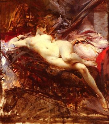 Boldini Giovanni Reclining Nude