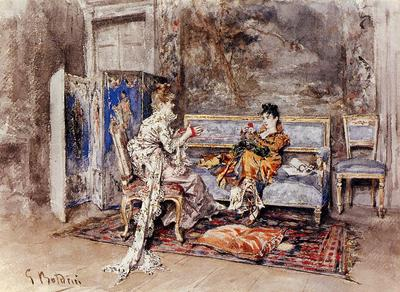Boldini Giovanni The Conversation