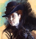 Boldini Giovanni Girl In A Black Hat