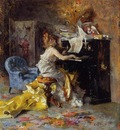 Boldini Giovanni Woman at a Piano