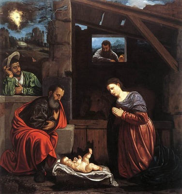 SAVOLDO Giovanni Girolamo Adoration Of The Shepherds