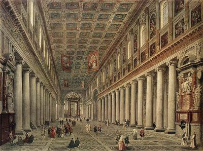 PANNINI Giovanni Paolo Interior Of The Santa Maria Maggiore In Rome