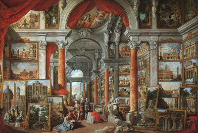 PANNINI Giovanni Paolo Picture Gallery With Views Of Modern Rome