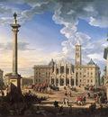 PANNINI Giovanni Paolo The Piazza And Church Of Santa Maria Maggiore