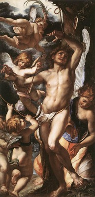 PROCACCINI Giulio Cesare St Sebastian Tended By Angels