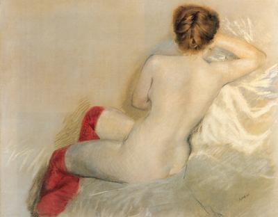 Nittis Nudo con le Calze Rosse