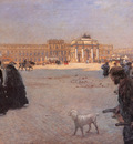 nittis guiseppe de the place de carrousel and the ruins of the tuileries palace in