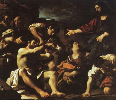 GUERCINO Raising Lazarus