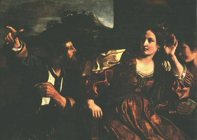 GUERCINO Semiramis Receiving Word of the Revolt of Babylon