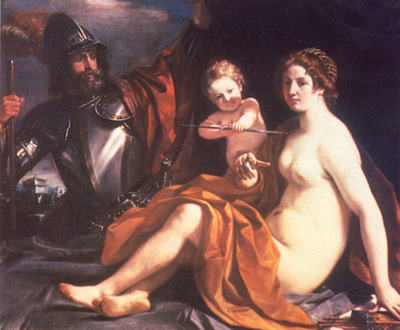GUERCINO Venus Mars and Cupid